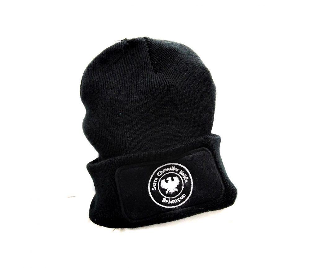 Bonnet en laine noir avec logo Serre-Chevalier Vallée - Briançon