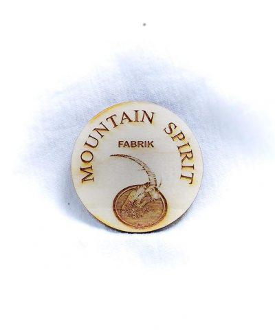 """Création gravure porte-clé sur bois """"Mountain Spirit"""""""
