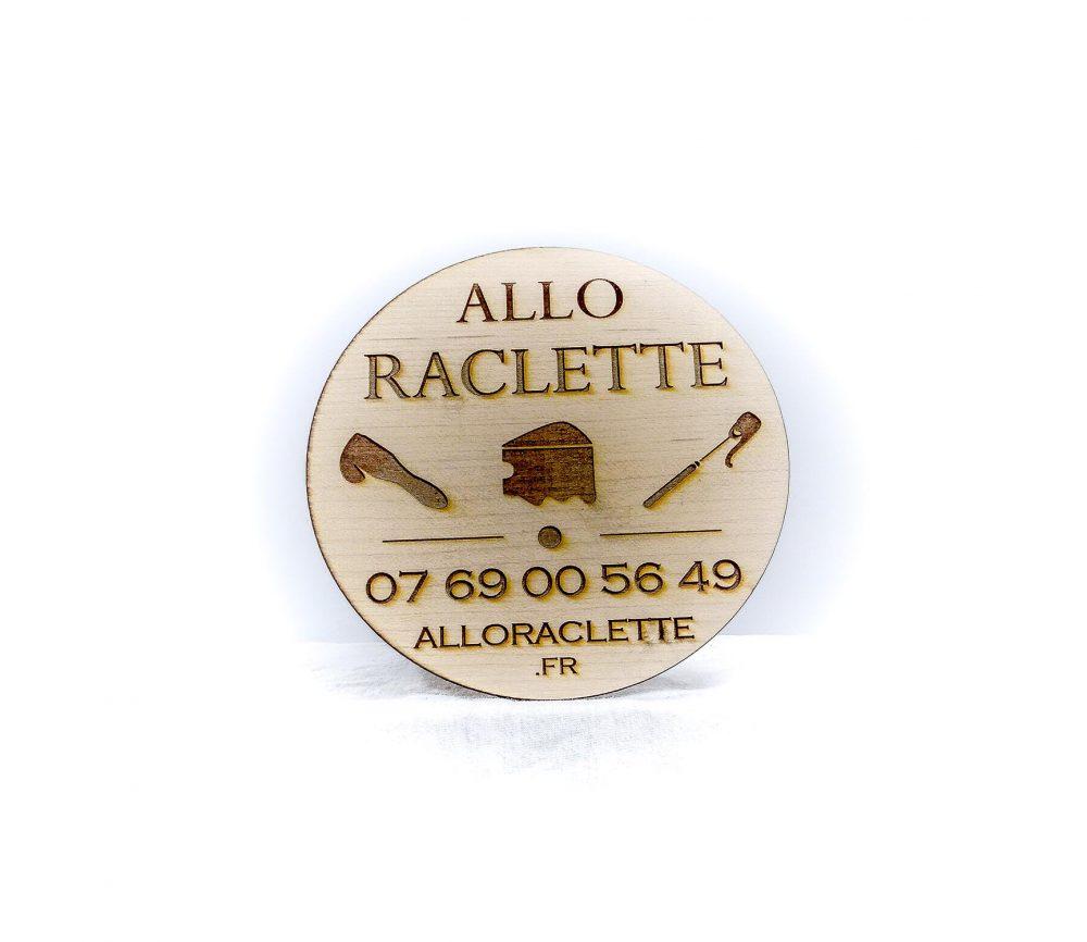 """Gravure personnalisée """"Allô raclette"""""""