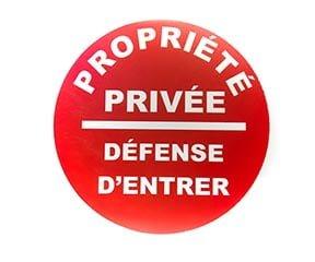 """Panneau """"Défense d'entrer"""" (Signalétique)"""