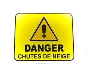 """Panneau """"Danger : Chutes de neige"""" (Signalétique)"""
