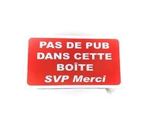 """Panneau """"Pas de publicité"""" (Signalétique)"""