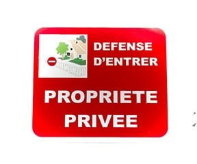 """Panneau """"Propriété privée imagé"""" (Signalétique)"""