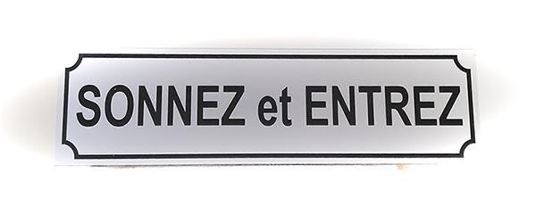 """Panneau """"Sonnez et entrez"""" (Signalétique)"""