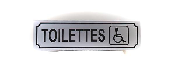 """Panneau """"Toilettes pour personne en situation de handicap"""" (Signalétique)"""