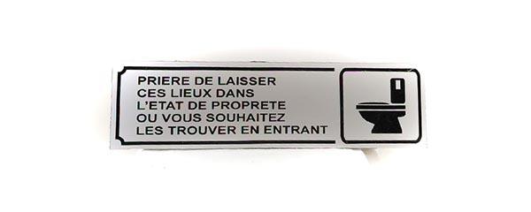 """Panneau """"Toilettes propres"""" (Signalétique)"""