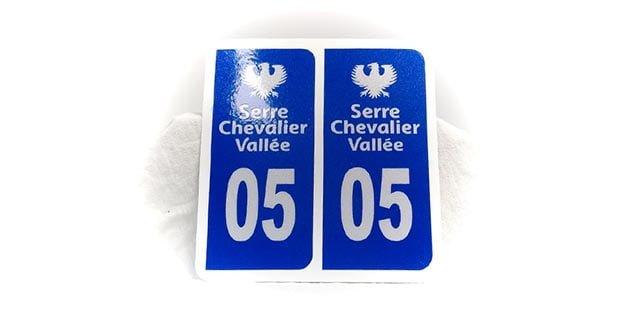 """""""Plaque minéralogique département"""" (Signalétique)"""