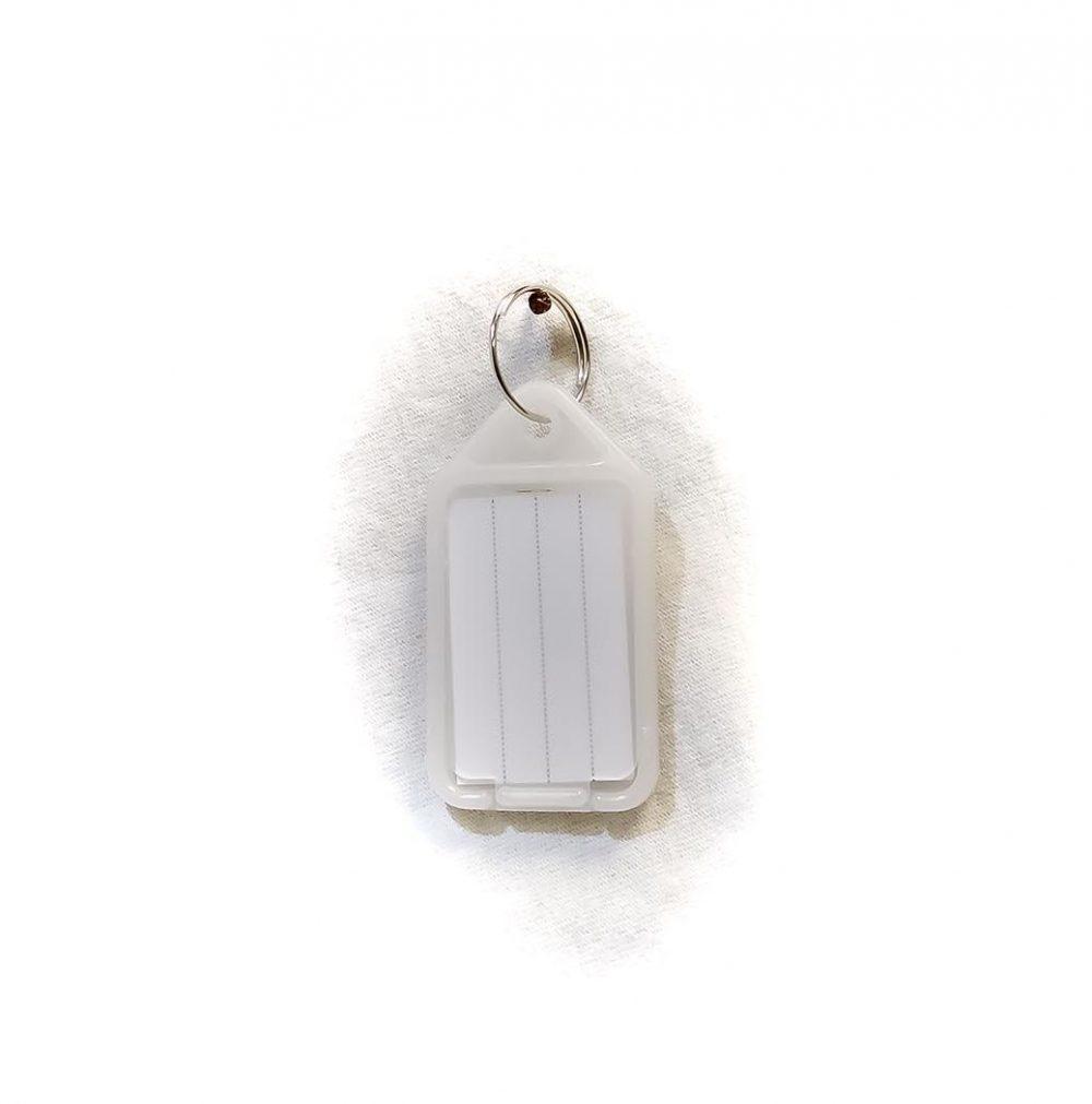 Porte-étiquettes large blanc