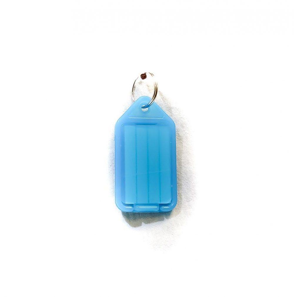 Porte-étiquettes large bleu