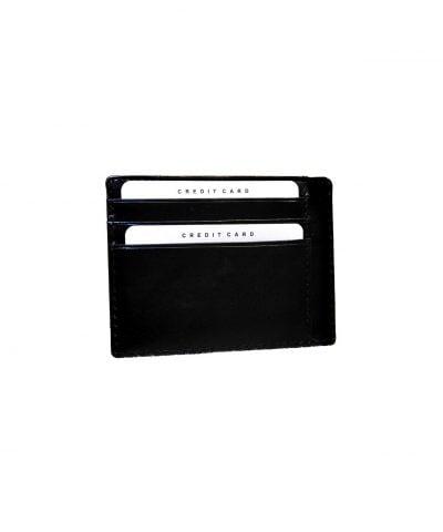Porte-cartes cuir noir