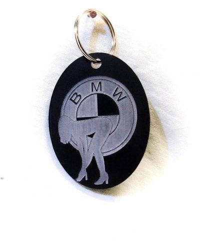 Porte-clé personnalisé plastique du logo BMW avec femme