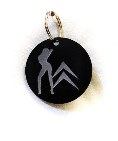 Porte-clé personnalisé plastique du logo Citroen avec femme