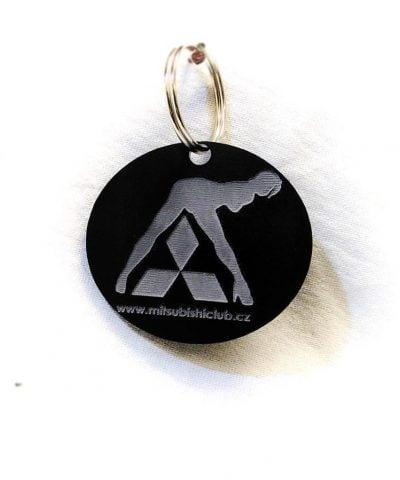 Porte-clé personnalisé plastique du logo Mitshubishi avec femme