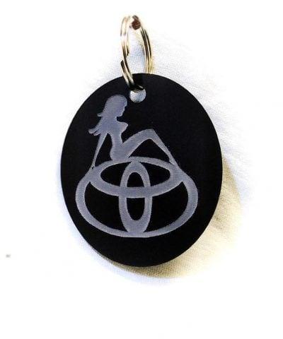Porte-clé personnalisé plastique du logo Toyota avec femme