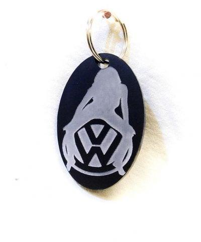 Porte-clé personnalisé plastique du logo Volkswagen avec femme