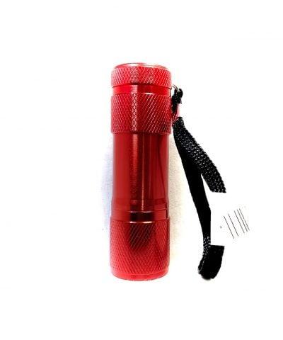 Porte-clés lampe de poche rouge