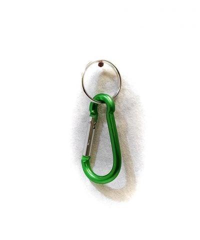 Porte-clés Mousqueton boucle vert