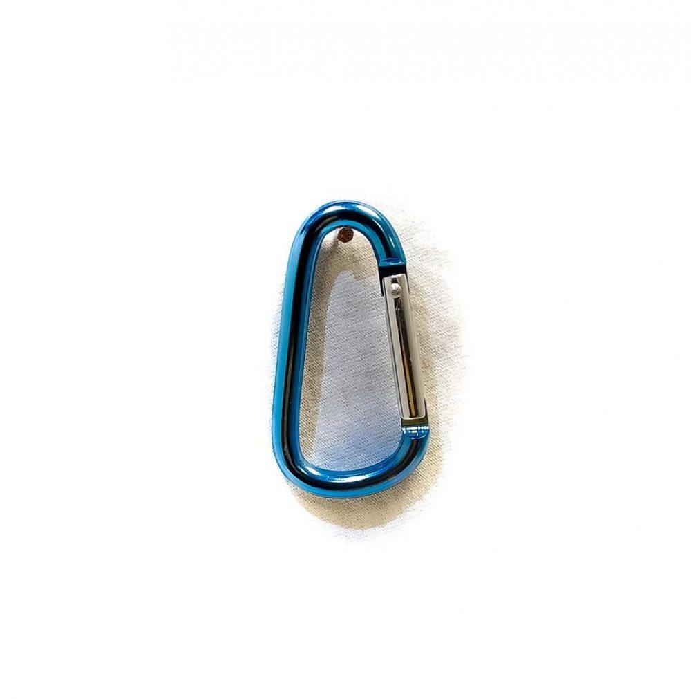 Porte-clés Mousqueton simple bleu