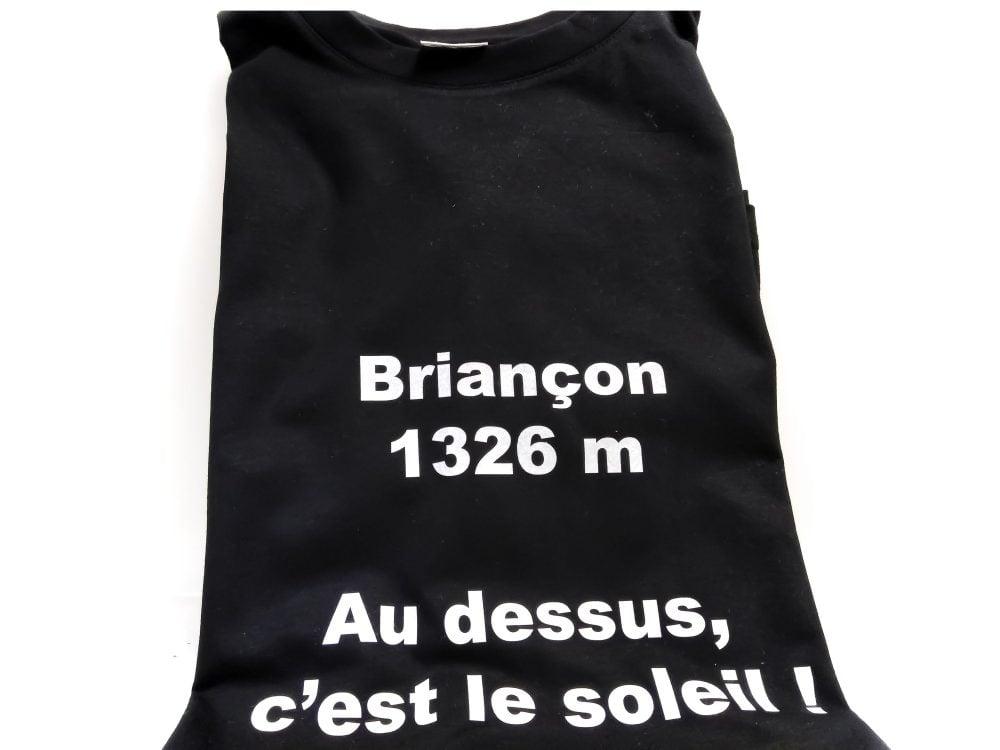 Tshirt Briançon Soleil Noir