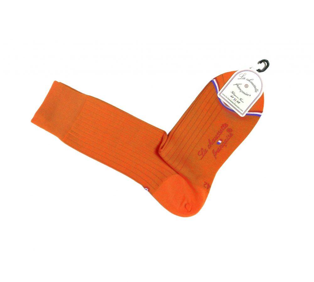 Chaussette Pigalle fil d'Ecosse Orange