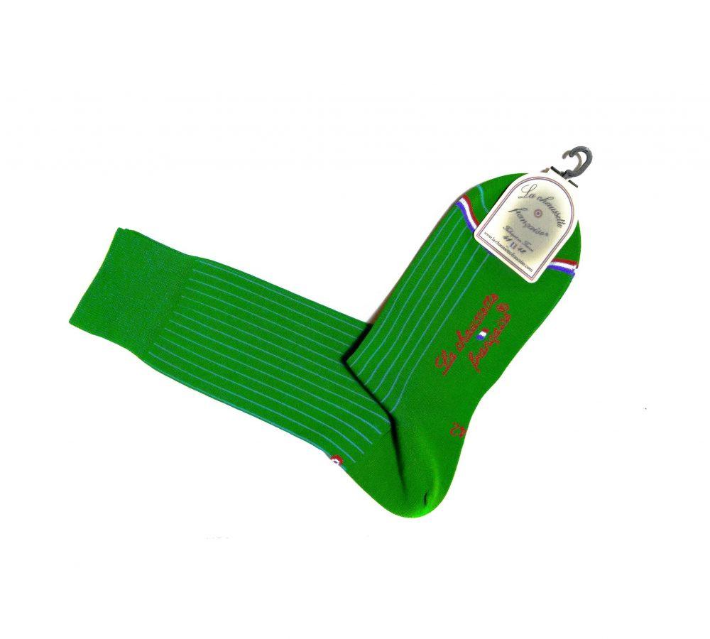 Chaussette Pigalle fil d'Ecosse Vert