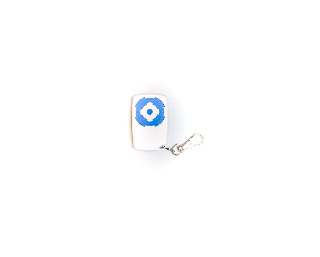 Télécommande électronique portail bleue